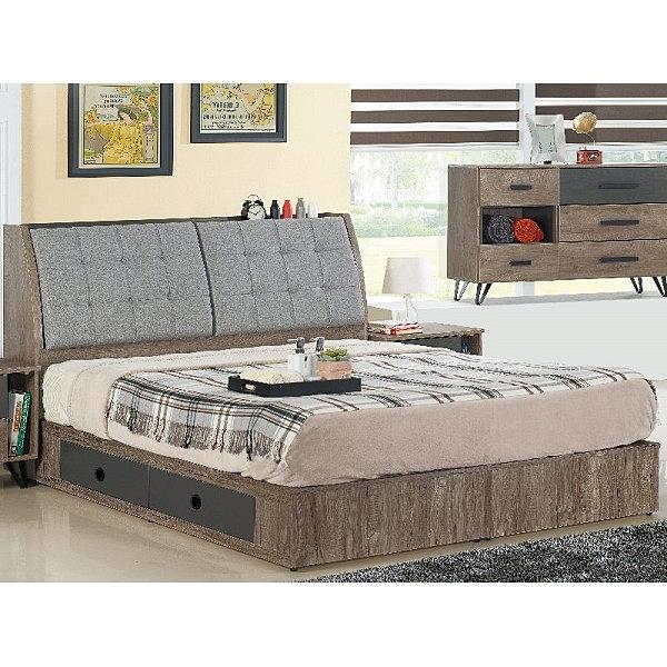 床架 FB-508-3A 凱洛琳灰橡色6尺雙人床 (床頭+床底)(不含床墊) 【大眾家居舘】