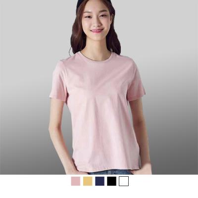 潮流瘋 T8000 100%圓領純棉厚款素色圓領T恤