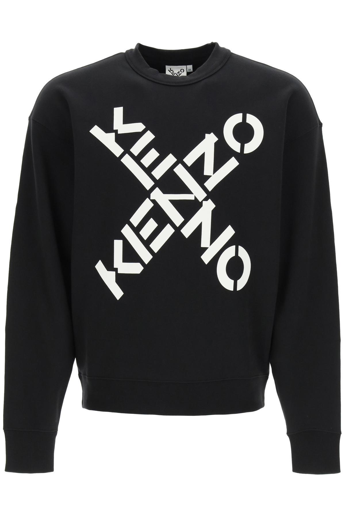 KENZO KENZO SPORT BIG X SWEATSHIRT XL Black, White Cotton