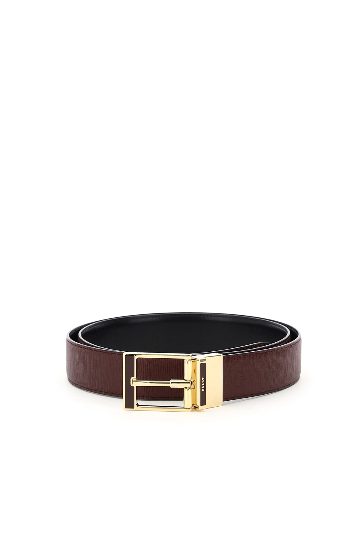 BALLY SERET 35 REVERSIBLE BELT 110 Red, Purple, Black Leather