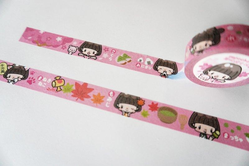 紙膠带  / 鮑伯頭女孩 日式