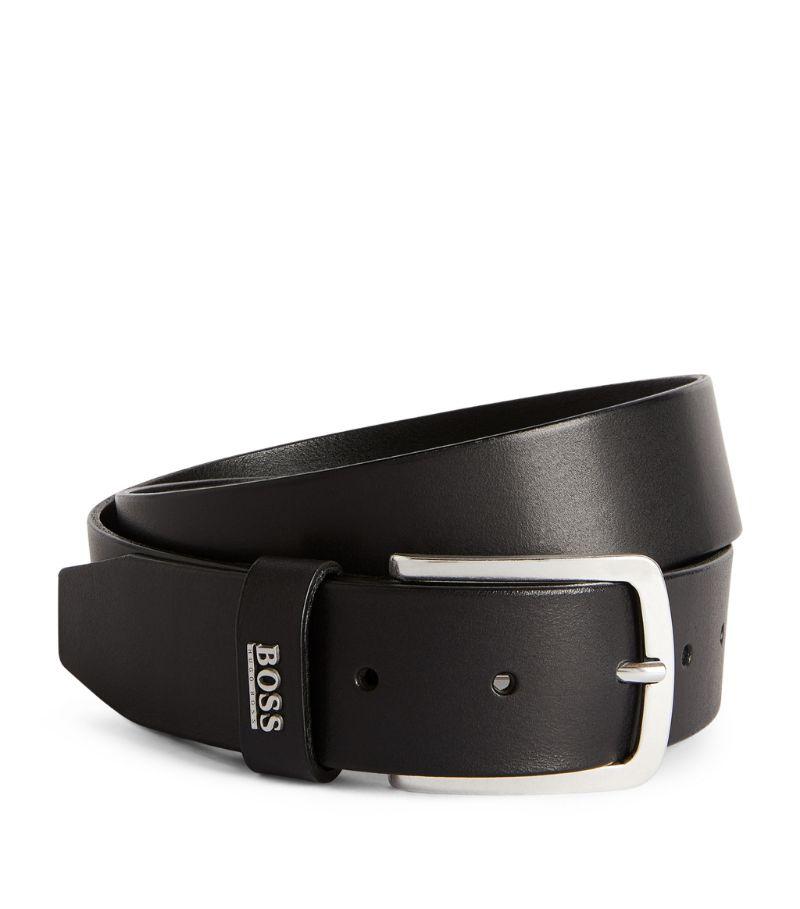 Boss Leather Logo Belt