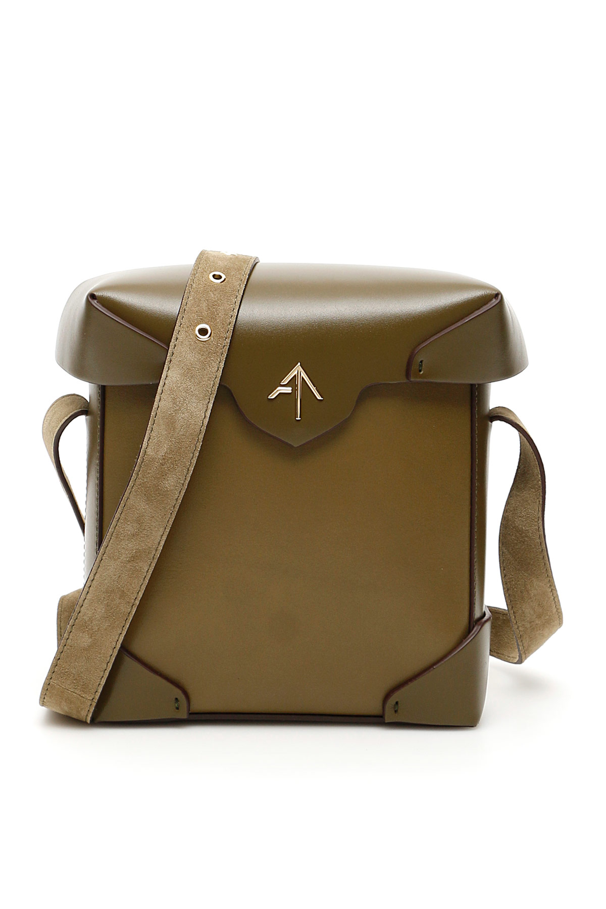 MANU ATELIER MINI PRISTINE BAG OS Green, Khaki Leather
