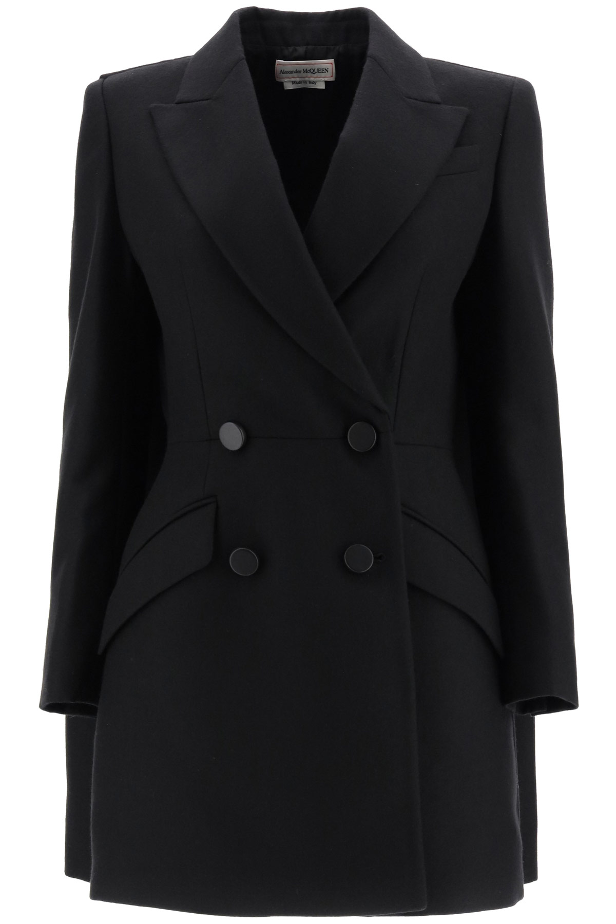 ALEXANDER MCQUEEN WOOL COAT 40 Black Wool
