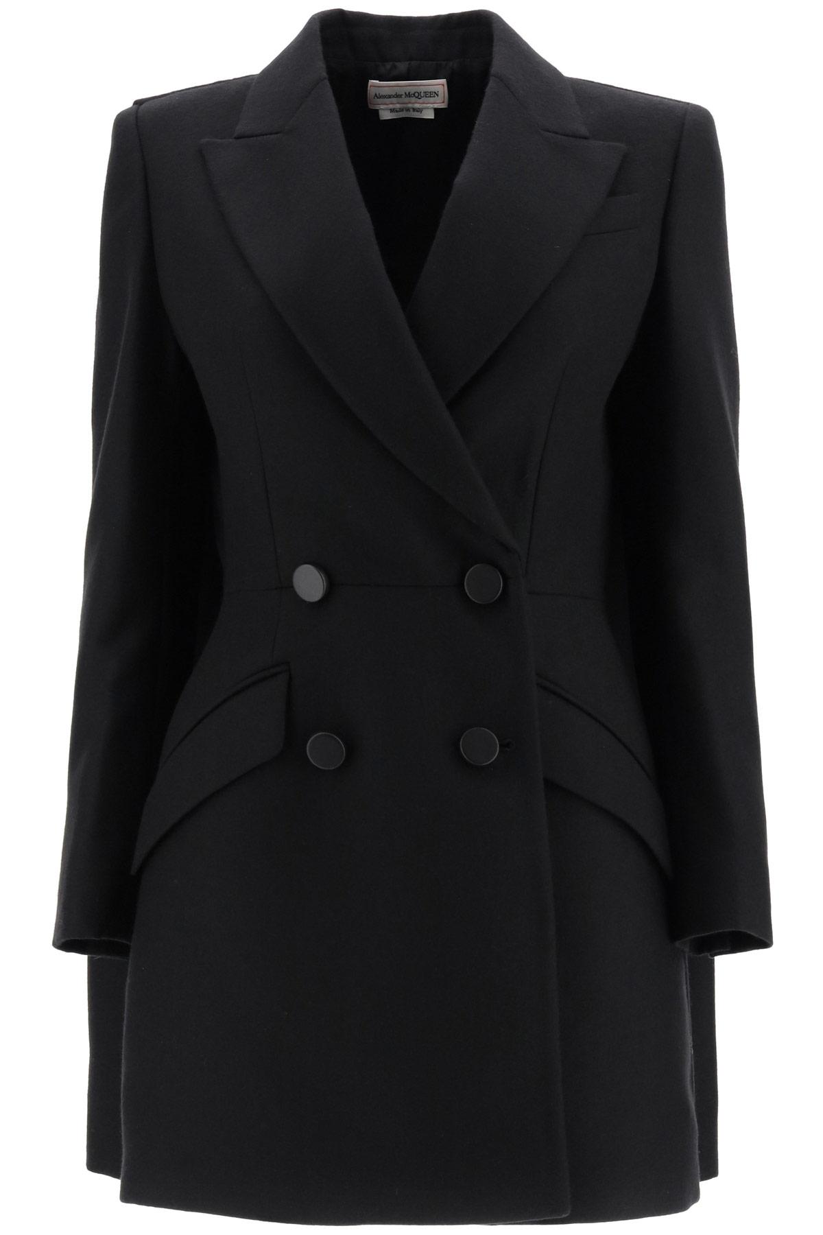 ALEXANDER MCQUEEN WOOL COAT 40 Black Wool