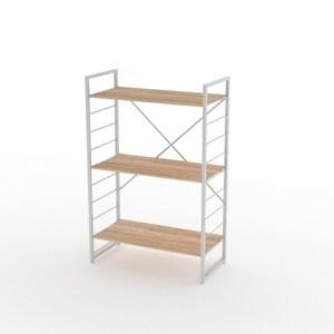 組 - 特力屋萊特 組合式層架 白框/淺木紋色 80x40x128cm