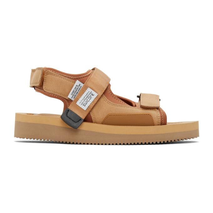 Suicoke 黄褐色 WAS-V 凉鞋
