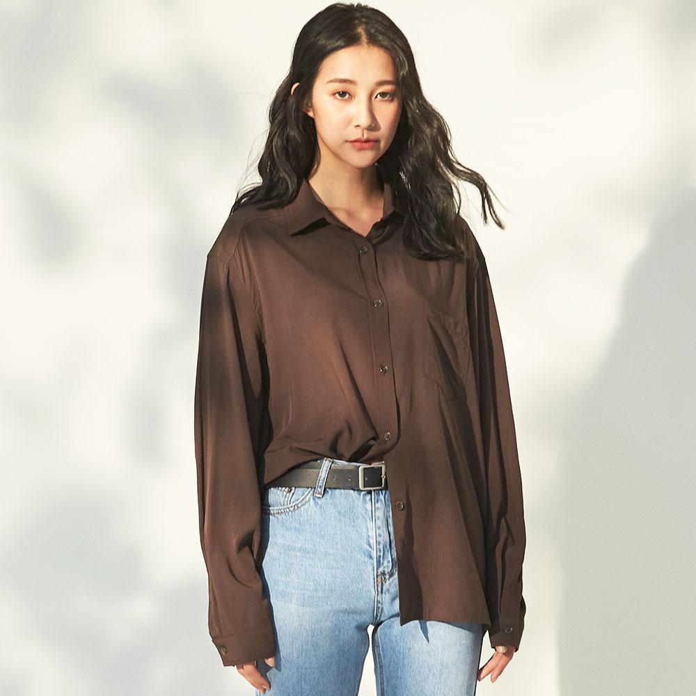 The Madre 寬鬆長版口袋襯衫