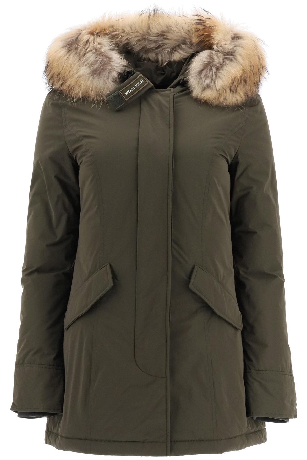 WOOLRICH LUXURY ARCTIC PARKA WITH MURMASKY FUR M Green Technical, Fur