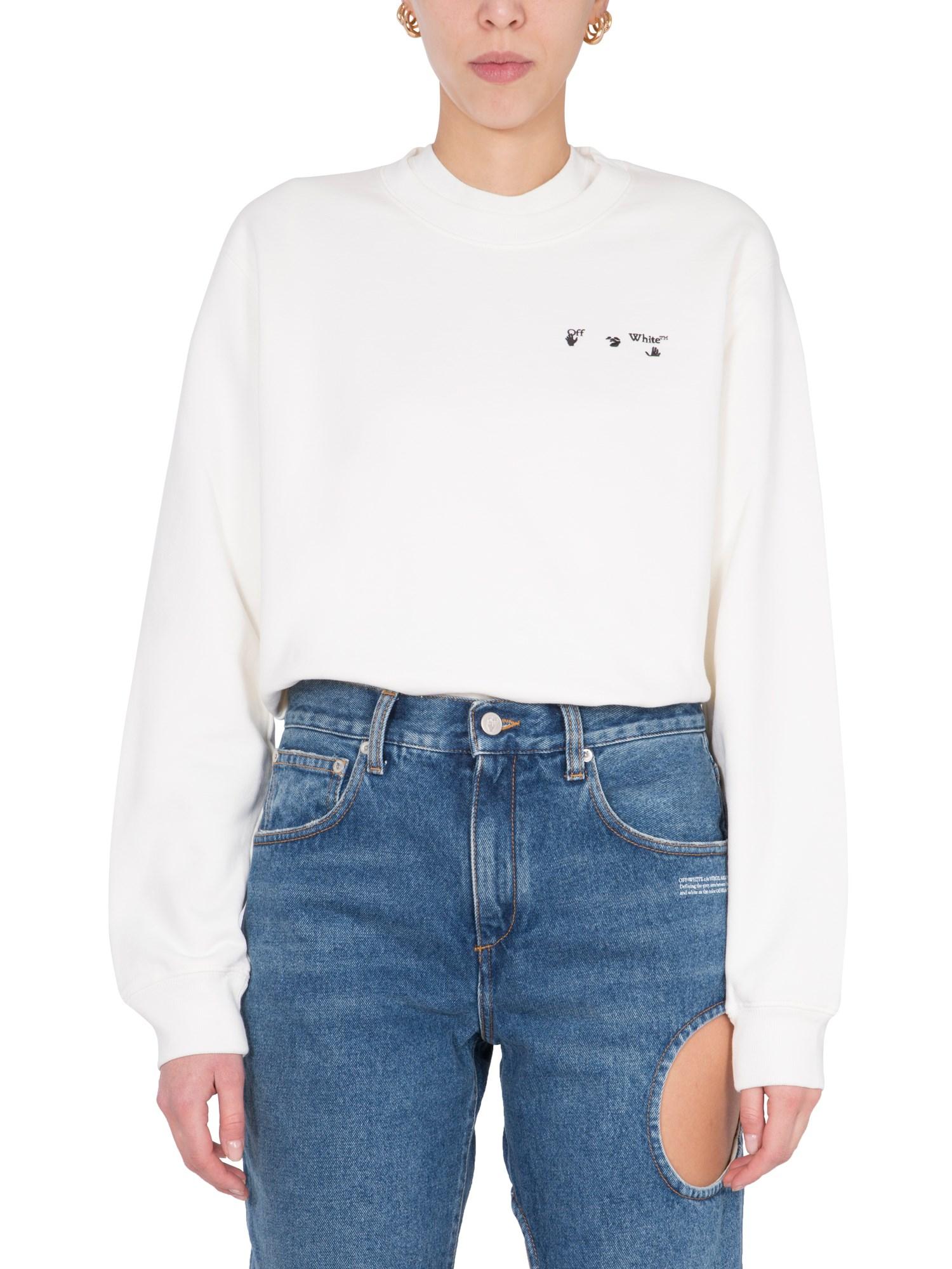 off-white sweatshirt with arrow print