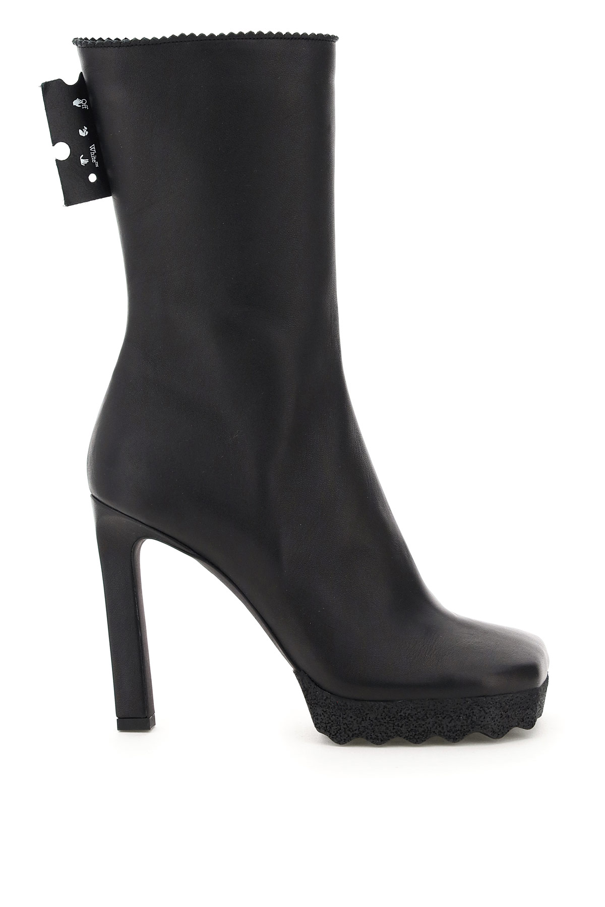 OFF-WHITE NAPPA BOOTS 39 Black Leather