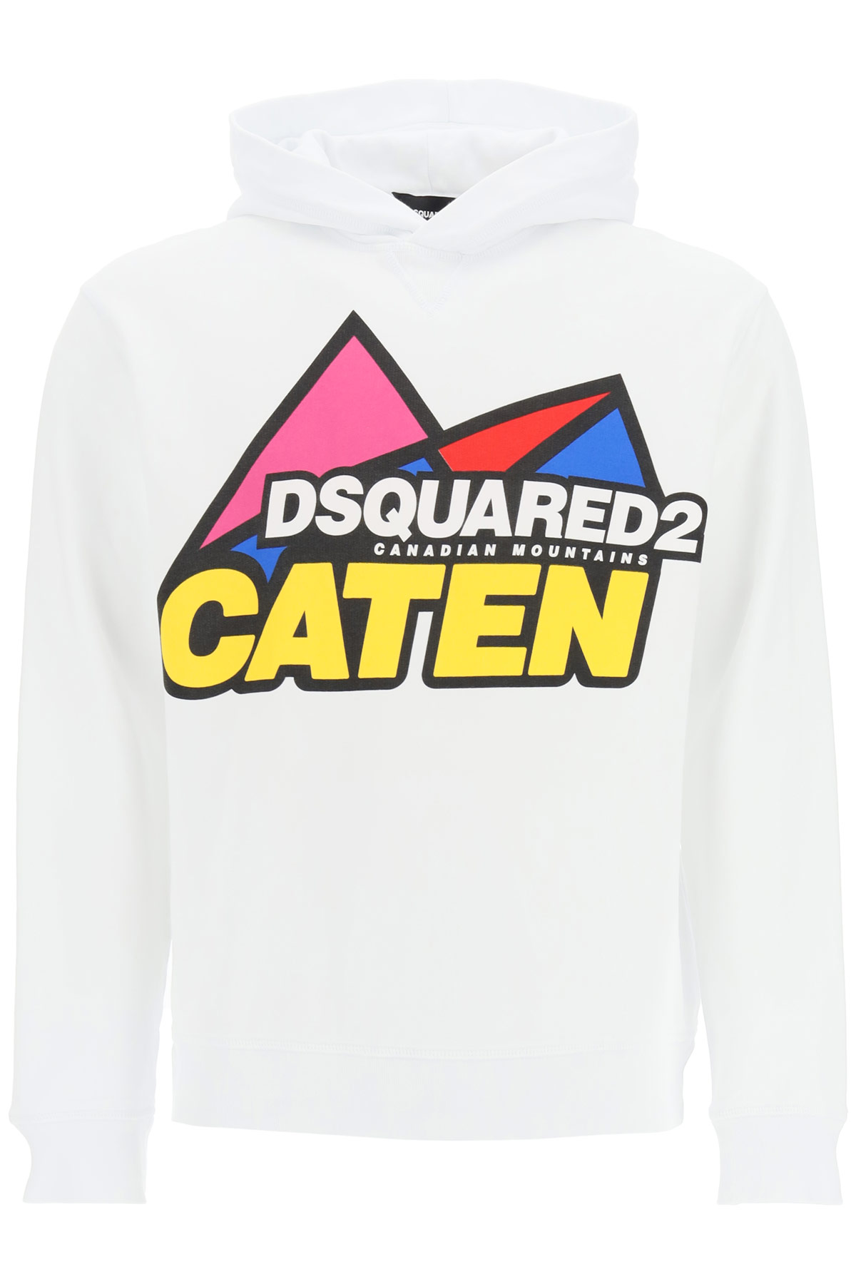 DSQUARED2 CANADIAN MOUNTAINS HOODIE XL White, Yellow, Red Cotton