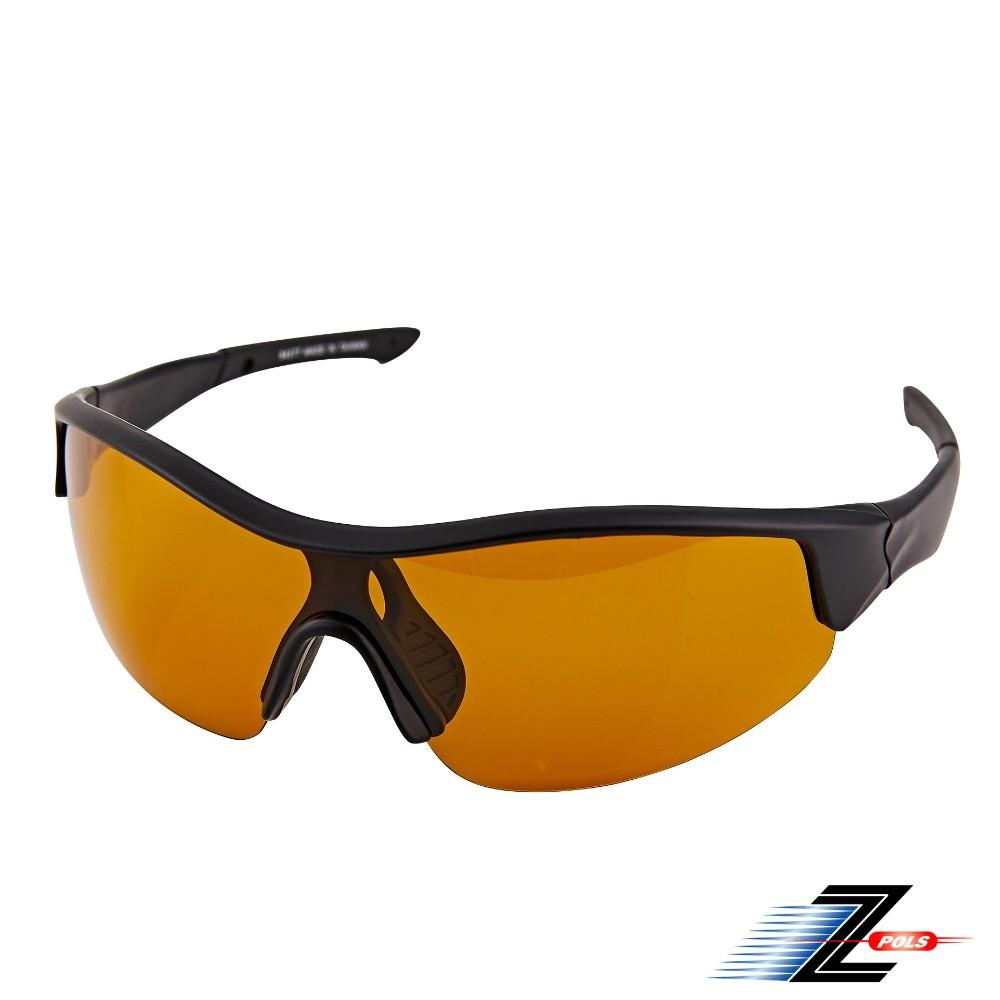 【Z-POLS專業釣魚款】質感霧黑框體搭強化寶麗萊Polarized頂級偏光抗UV400運動太陽眼鏡