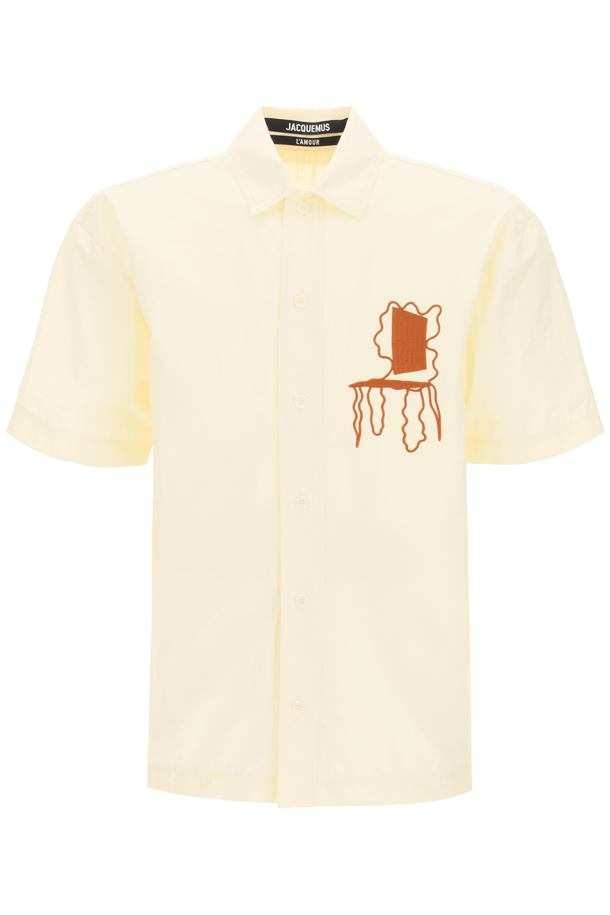 JACQUEMUS MOISSON SHIRT 48 Beige, Yellow, Brown Cotton
