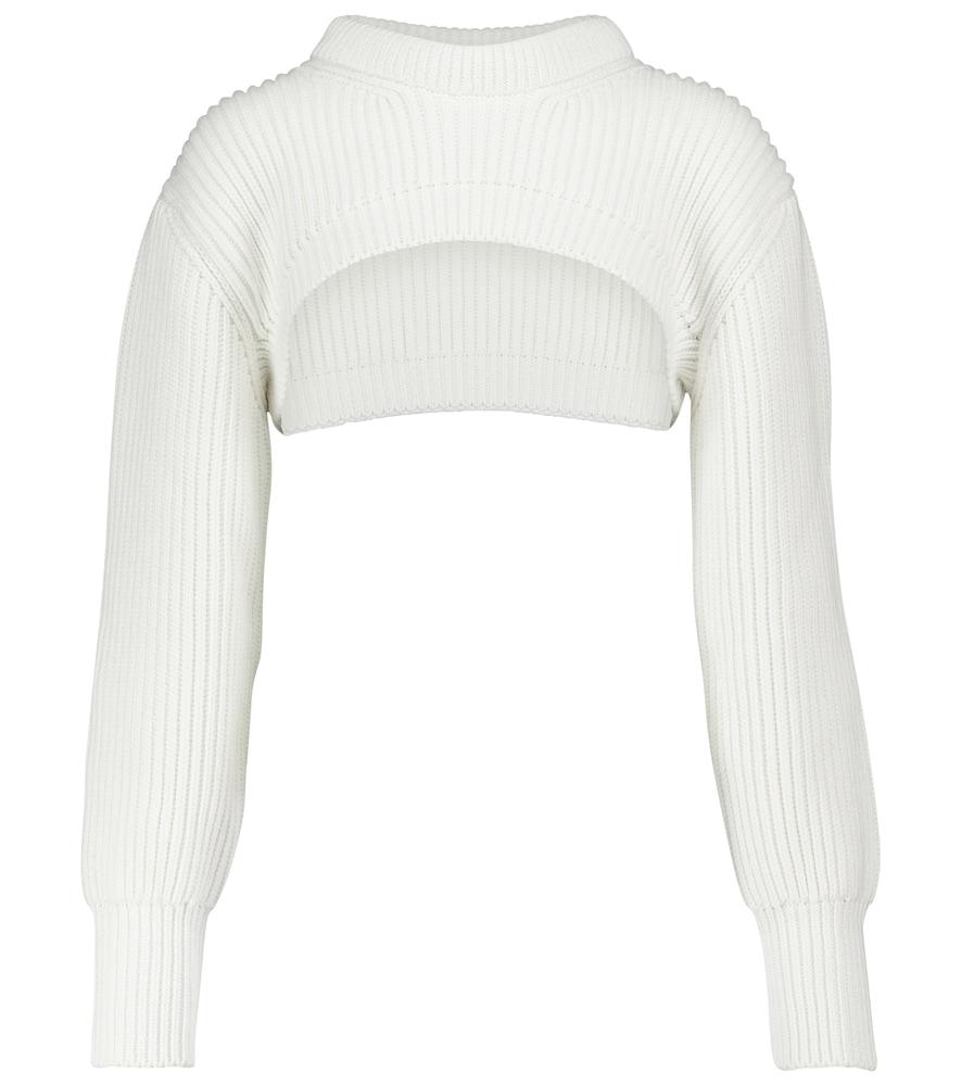 Ribbed cotton shrug
