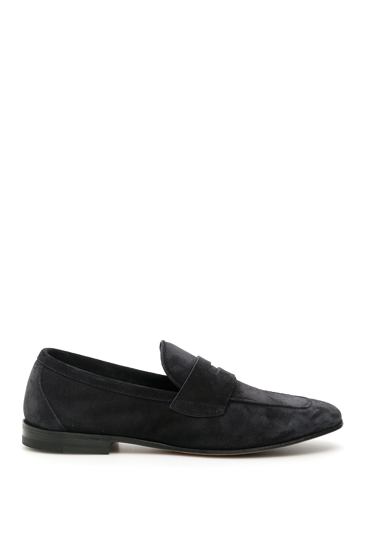 HENDERSON SUEDE LOAFERS 40 Blue Leather