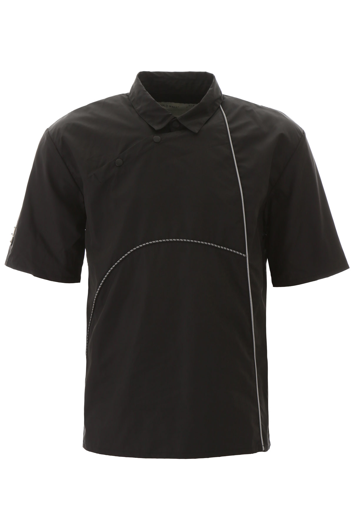 A COLD WALL NYLON POLO SHIRT WITH PIPING M Black Technical