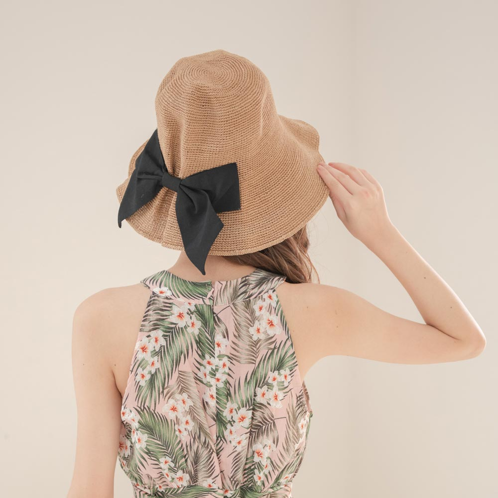 大蝴蝶結海灘帽