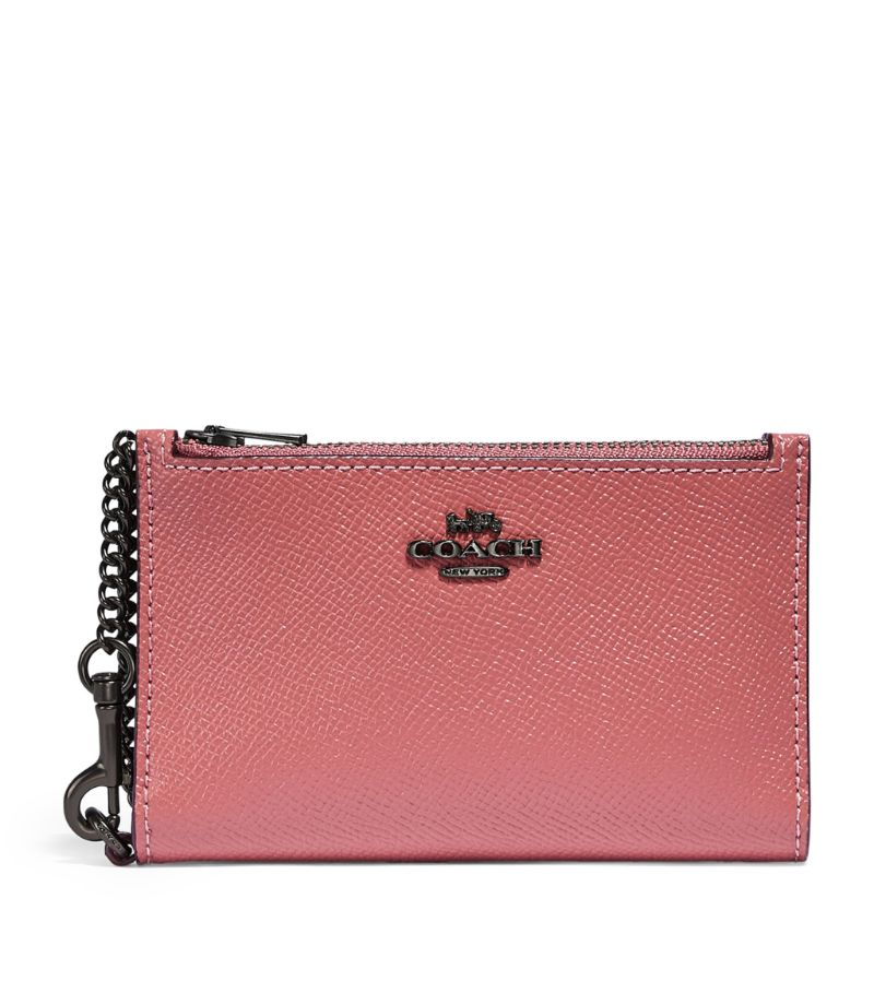 Coach Leather Chain Card Holder