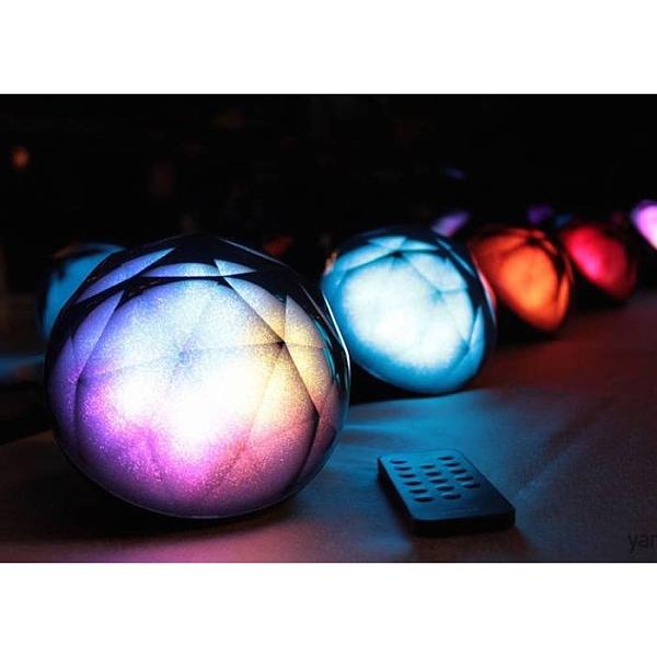 《強強滾》藍芽喇叭Diamond 鑽石水晶藍牙喇叭 LED情境氣氛燈 藍芽音響 生活市集