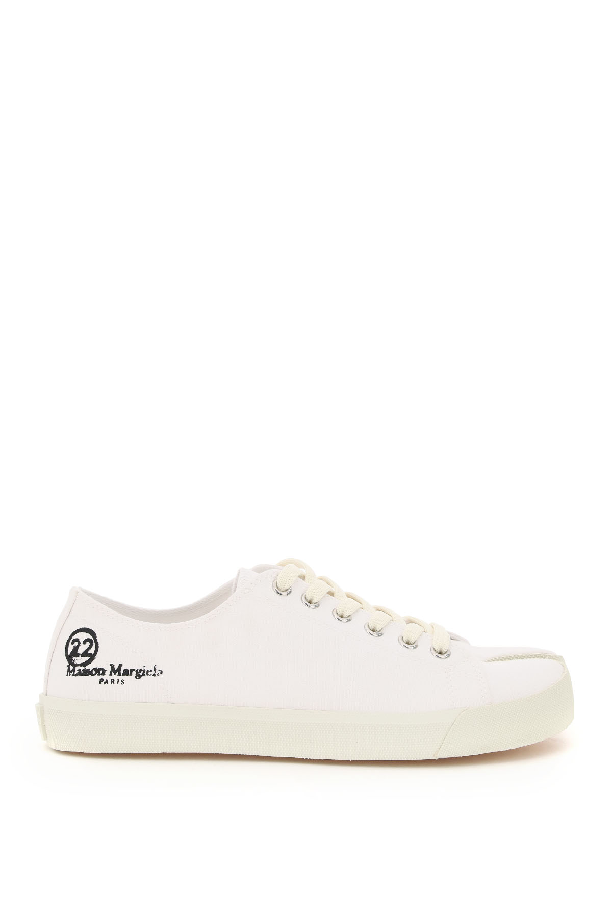 MAISON MARGIELA TABI CANVAS SNEAKERS 39 White Cotton