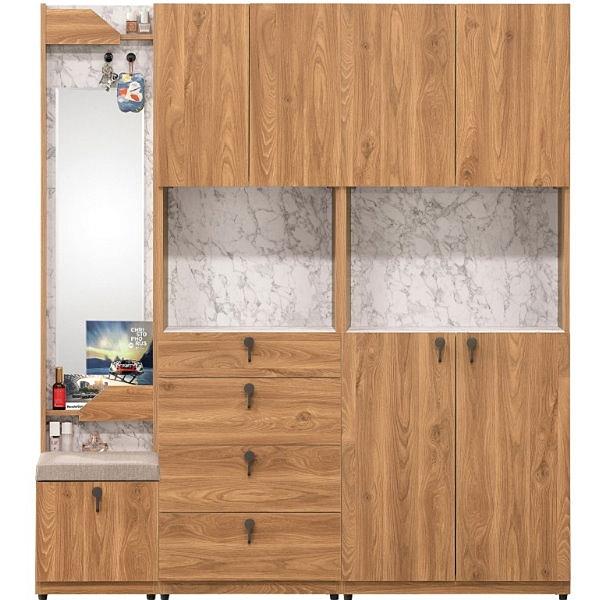 鞋櫃 QW-409-248 湯瑪士1.3尺鏡面玄關櫃湯瑪士2尺四抽收納櫃湯瑪士2.5尺玄關收納櫃【大眾家居舘】