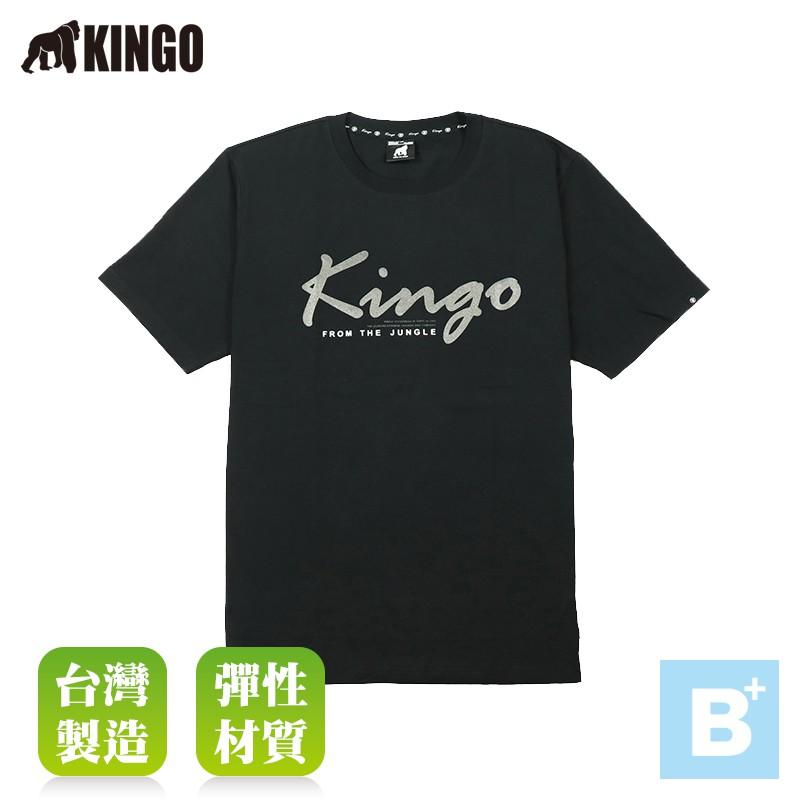 大尺碼-KINGO-圓領T恤-黑-113104