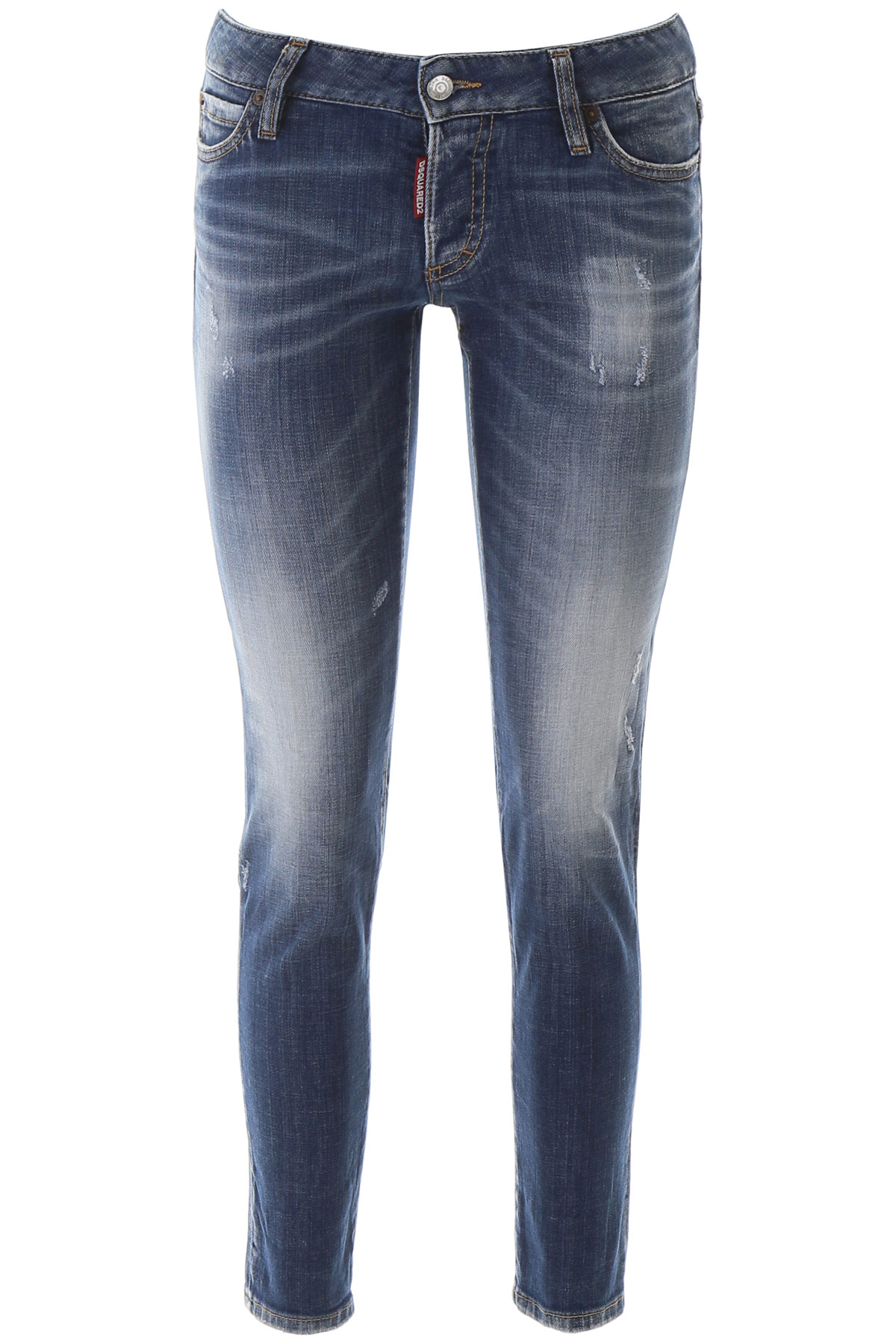 DSQUARED2 JENNIFER JEANS 38 Blue Cotton, Denim