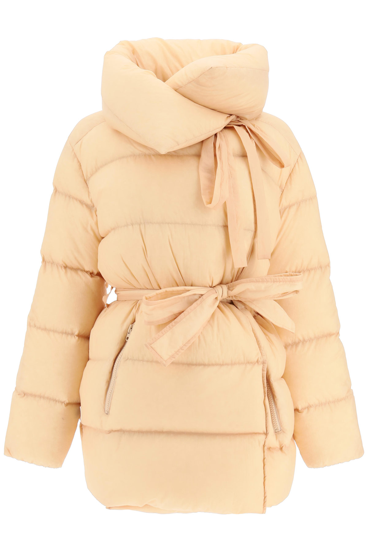 BACON PUFFA MIDI DOWN JACKET S Beige, Yellow Technical