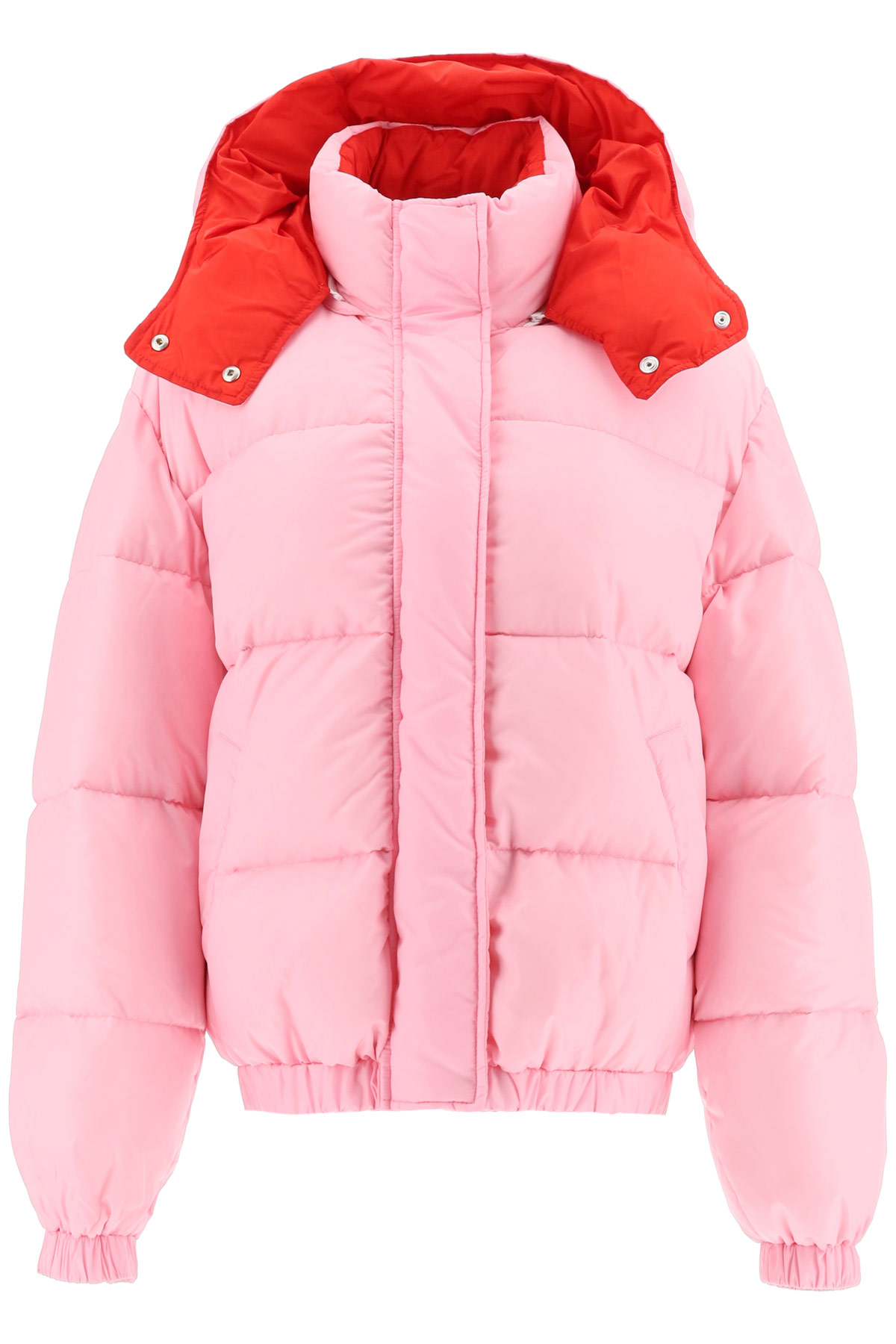MSGM HOODED DOWN JACKET 44 Pink, Red