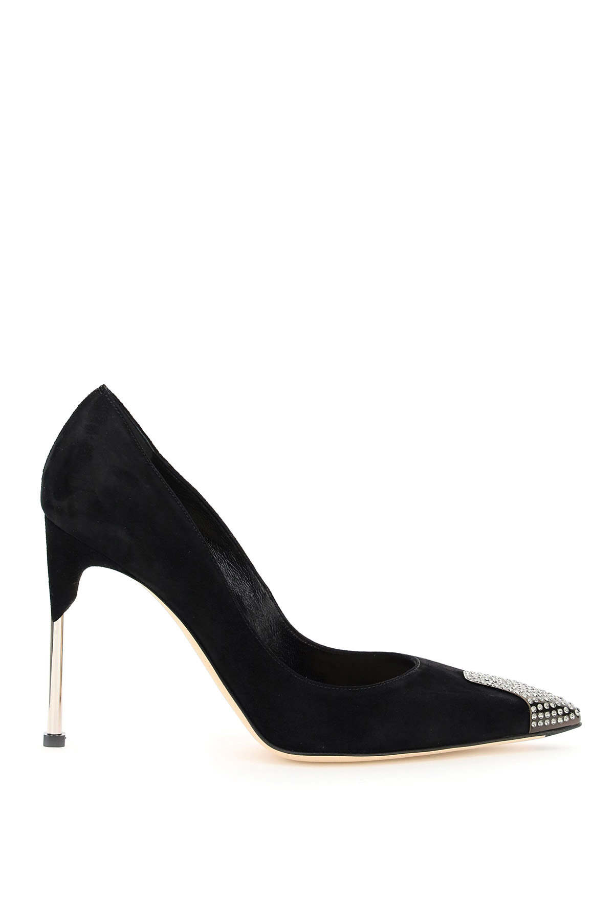 ALEXANDER MCQUEEN PUMPS WITH CRYSTALS 39 Black Leather