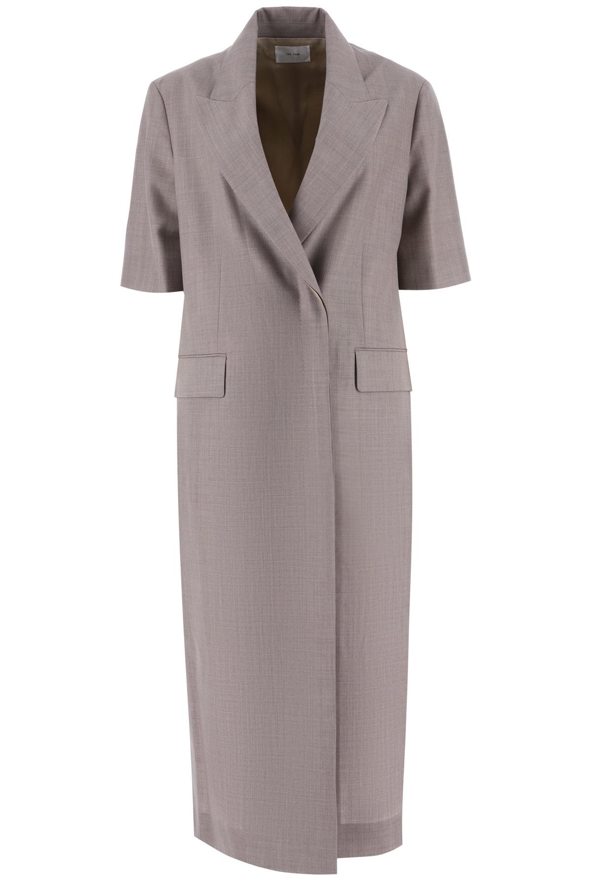 THE ROW HARRIET COAT 4 Beige, Brown Wool