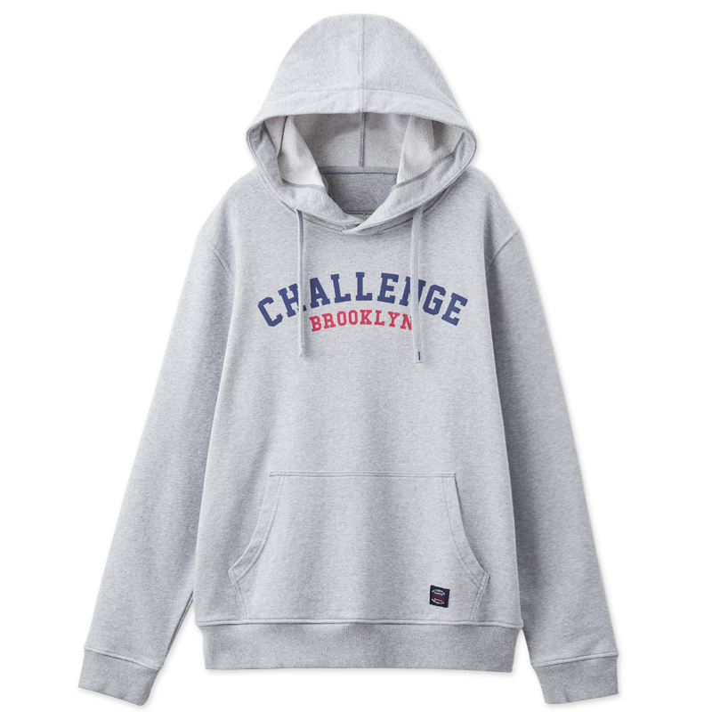 學院80帽T(銀灰色)-男