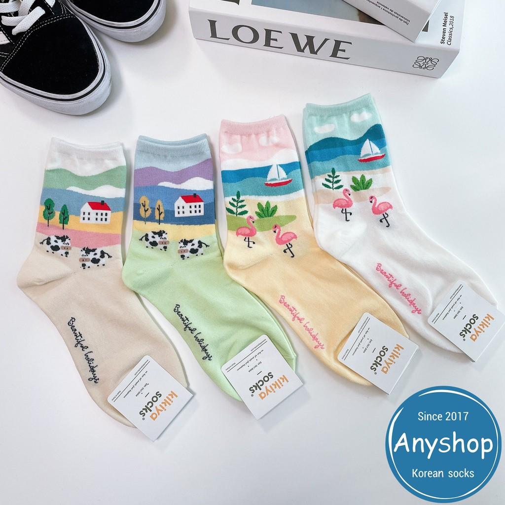 韓國襪-[Anyshop]海灘牧場小動物長襪