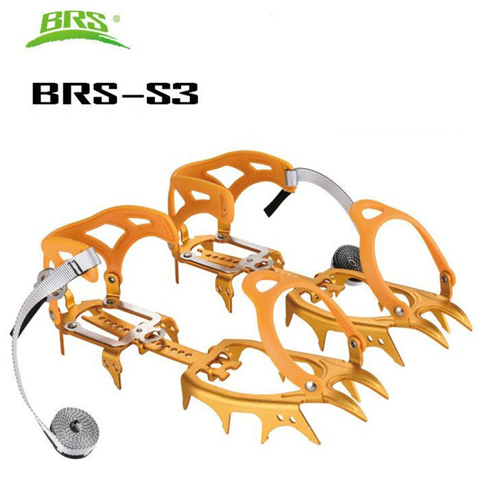 BRS兄弟捷登 鋁合金十四爪冰爪 金色 BRS-S3