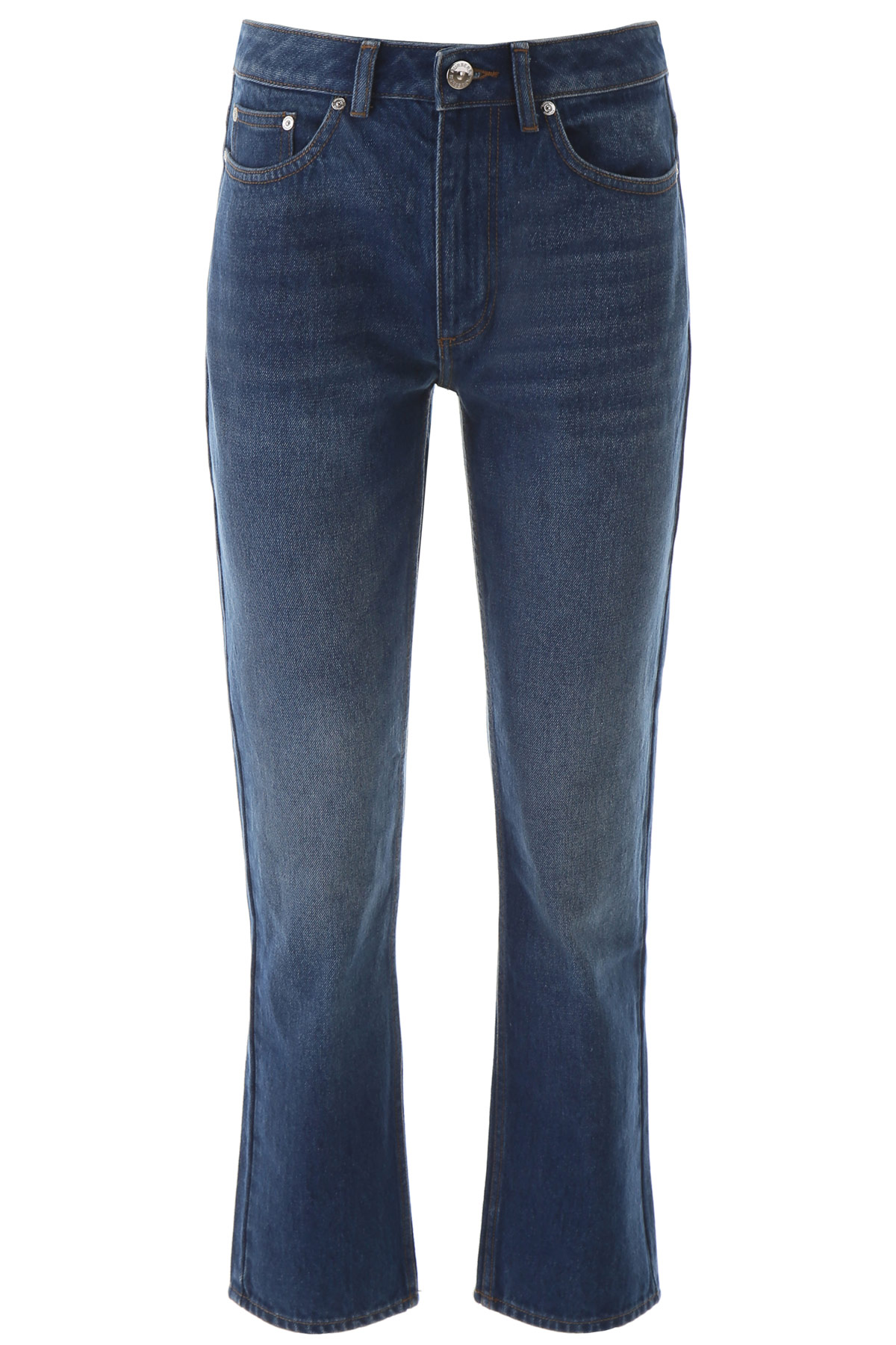 BURBERRY JEANS WITH CHAIN 25 Blue Cotton, Denim