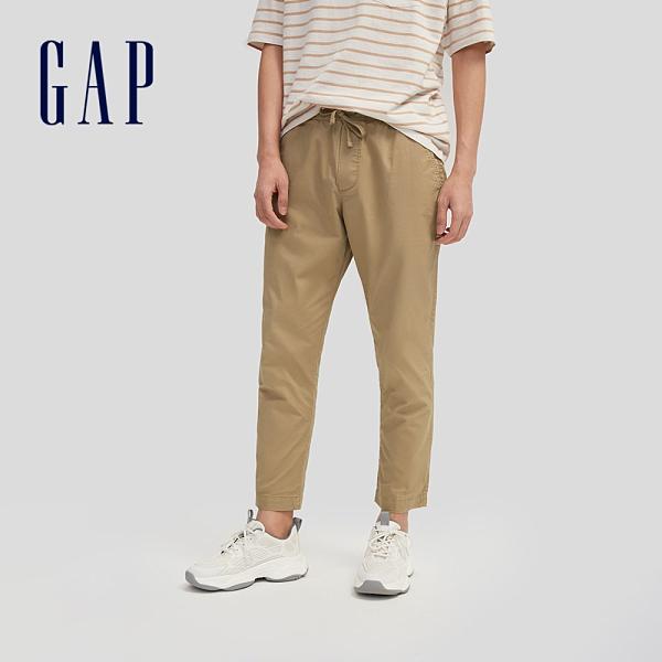 Gap男裝 時尚通勤鬆緊休閒褲 677367-卡其色