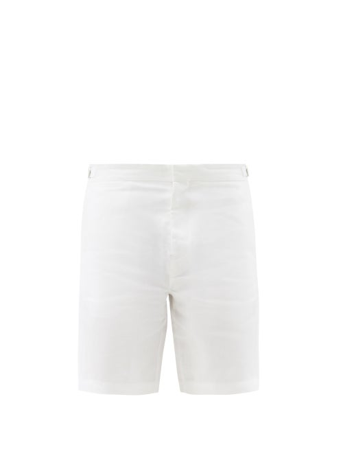Orlebar Brown - Norwich Linen Shorts - Mens - White