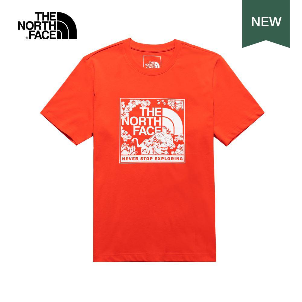 【新年款】The North Face北面男女款紅色短袖T恤|4U8S15Q