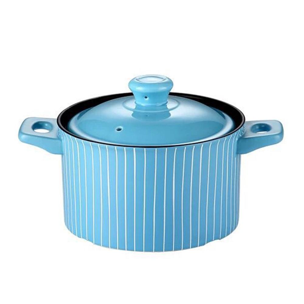【西華SILWA】英倫時尚耐熱瓷湯鍋2.5L/3.5L-藍調