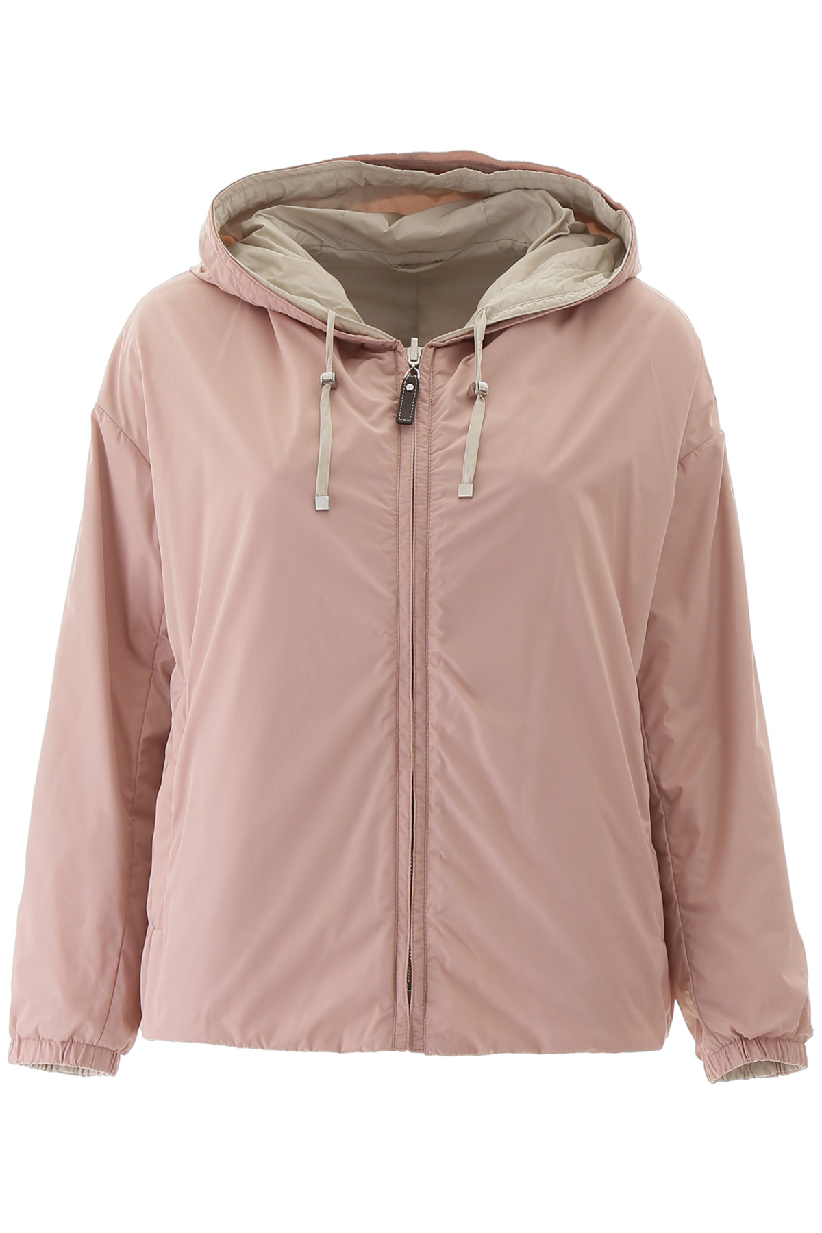 MAX MARA THE CUBE REVERSIBLE ESPORTY JACKET 40 Pink, Beige Technical