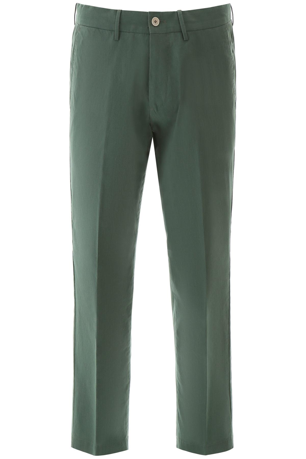 PT01 LARRY COTTON TROUSERS 52 Green Cotton