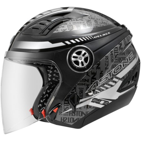 ASTONE DJ10C-OO19 黑銀 內墨鏡 透氣 吸濕排汗 全可拆洗 3/4罩 安全帽《淘帽屋》
