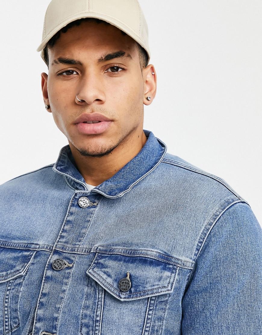 Only & Sons denim jacket in light blue