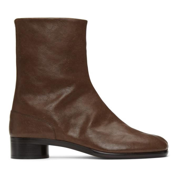 Maison Margiela 棕色 Tabi 踝靴