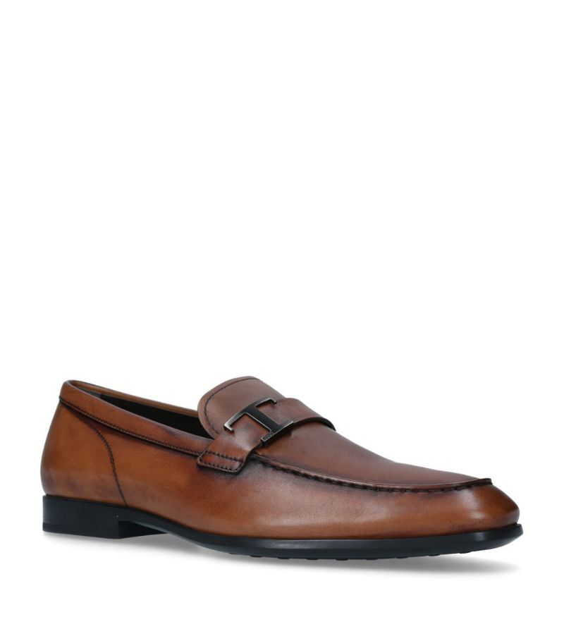 Tod'S Leather T-Bar Loafers