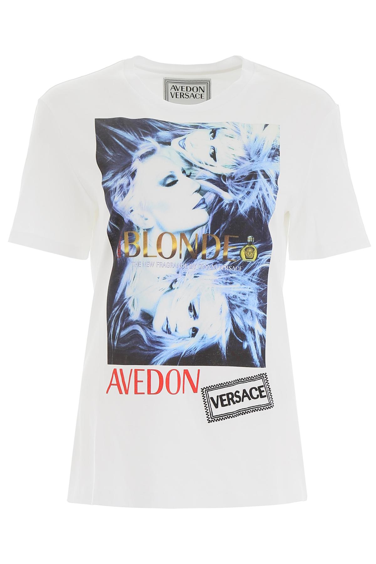 VERSACE AVEDON X VERSACE T-SHIRT M White Cotton