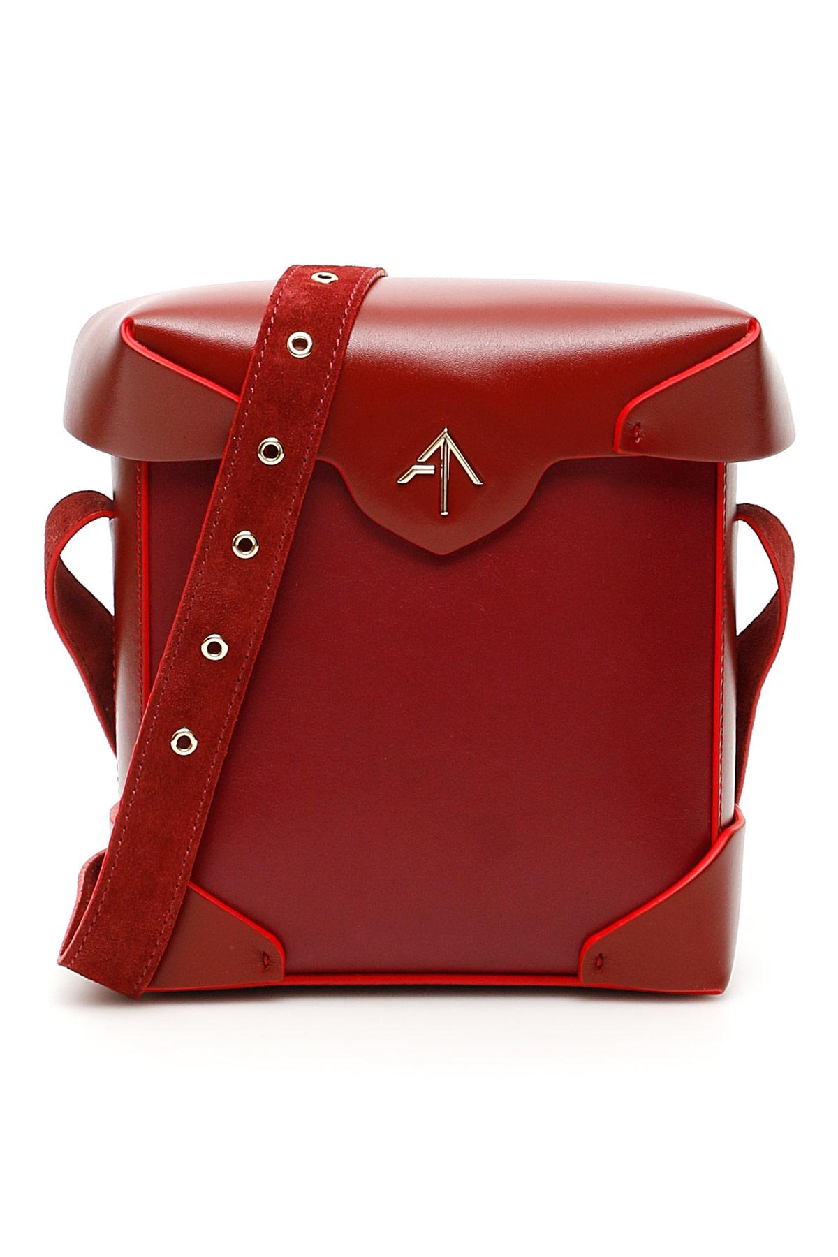 MANU ATELIER MINI PRISTINE BAG OS Red Leather