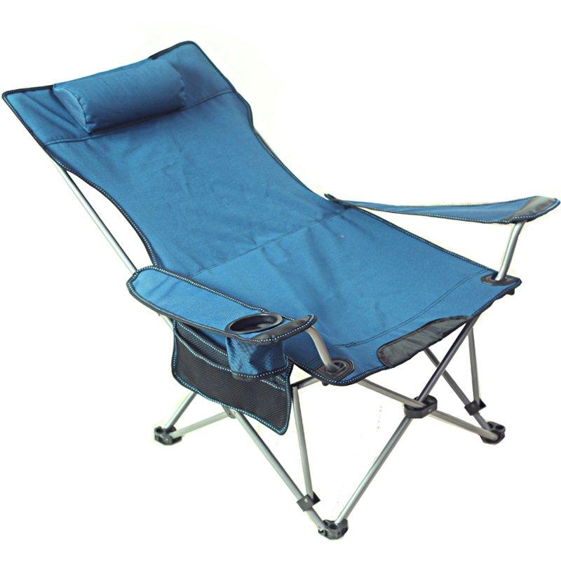 露營必帶 戶外折疊椅釣魚椅便攜坐躺兩用躺椅午休床露營沙灘椅