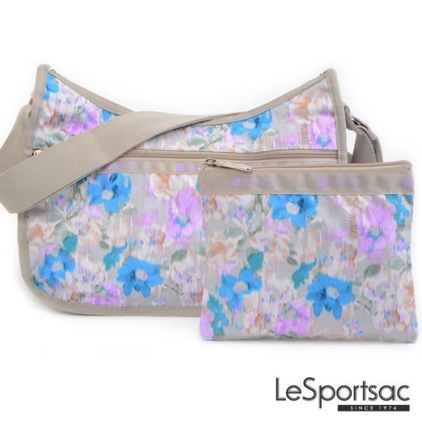 LeSportsac - Standard側背水餃包/流浪包-附化妝包 (窗外花景) 7520P F808
